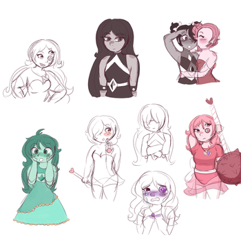 Gemsona sketch dump by pastelpearls
