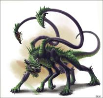 Half-Dragon Displacer Beast by SPipes