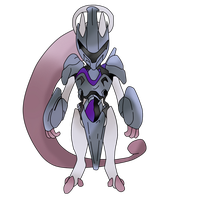 Mewtwo New Form  Armored (Original) by FriezaMangas