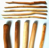 Handcarved Wood Wands by Lolair