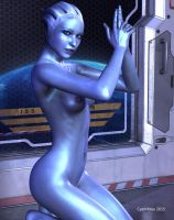 Liara (out of uniform) by cyanthree