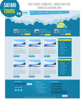 Premium Travel Web design Template PSD Inner page by cssauthor