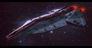 Republic Corvette Commission by AdamKop