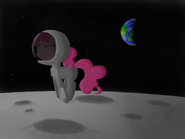 Bouncing on the moon by swedishpancaces