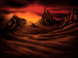 Mountains of Dragonfire by twinket