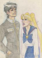 Seiya and Usagi by Dinoralp