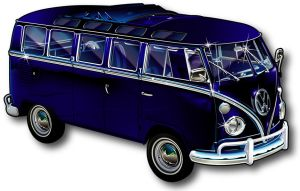 21 Window VW Bus by rjonesdesign