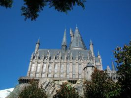 . Hogwarts from Afar II . by SugareeSweets