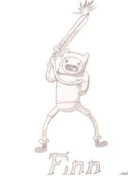 Finn with shiny sword by Shaw-Tin