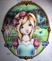 fairytale girl by unsteadily