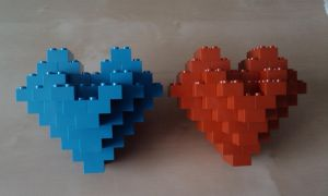 3D Lego Hearts by MG18