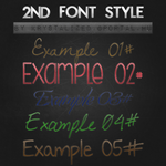 2nd Font Style - ASL File by itskrystalized