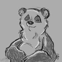Grey Scale Panda by fareme