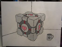 broken compainion cube by Jewel18656