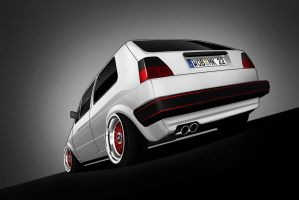 Volkswagen Golf 2 toon by Marko0811