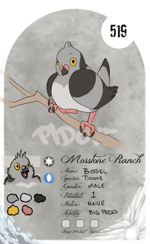 PARPG - Stats - Pidove - Bissel by dracothrope