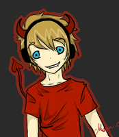 Pewdiepie Lucius Fanart ouo by Mooniie-the-wolf