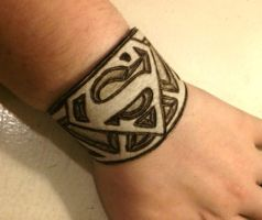 Superman Custom cuff by hellcattheassassin