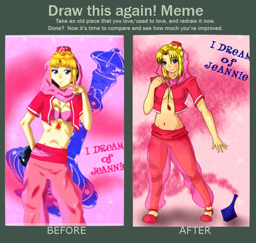Before and After - Jeannie by Lan2007