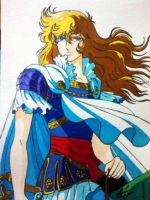 Lady Oscar - Rose of Versailles by No4Art