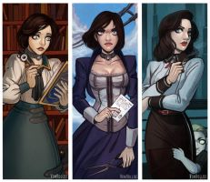 Elizabeth Bookmarks by VonHollde