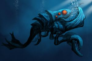 Speed paint : Underwater Monster 1 by ThoRCX