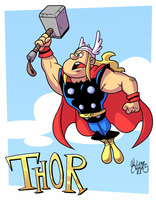 Thor flying by BezerroBizarro