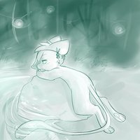 hot spring by RabbitBatThing