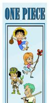 One Piece Bookmark Group by Ifritmermaid