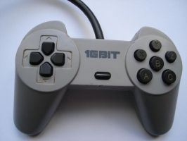 16-Bit Grey Joypad by GintasDX