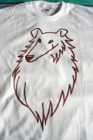 Collie on T-shirt by camaseiz