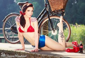 Latex pinup in summer by SusanWayland