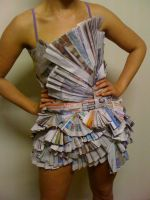 Newspaper Dress by GraceVuetaki