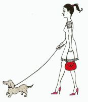 Purse and Pup Illustration by Groovygirlsuzy17
