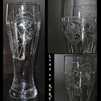 Luna engraved wheat glass by rtry