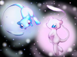 My two Mew by RikkuEst