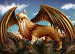 [Day 3] Mythical Creature - Griffin by Arbitrary-Means