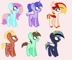 Mlp: Adoptables Open by BlackTempestBrony