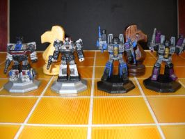 Transformers custom chess set decoy knights by Prowlcop