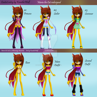 Contest Entry- (Re)Design Maria the Cat by KenotheWolf