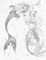 Commission: Mermaids by KeeperOfCoffins
