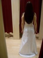 .white dress back. by bloodymarie-stock