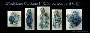 Windstone PYO Sapphire Shadow Snow Leopard Griffin by Eviecats
