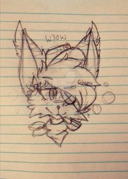 willow sketch #1  by Crimsonyx