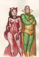Scarlet Witch and Vision, SPX by quin-ones