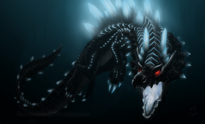 Monster Hunter - Abyssal Lagiacrus, sea emperor by Amayensis