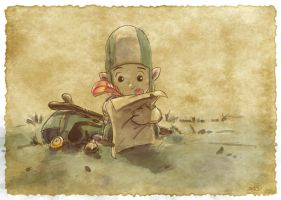 Thomas the Leap Year sketching Elf 22 by D-Gee
