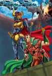mr.miracle end big barda colored by wanderlei78