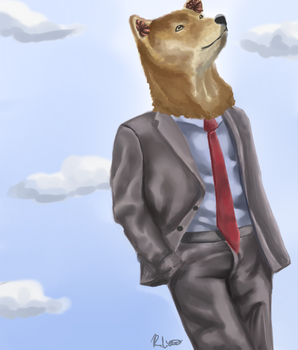 Doge In Suit by Catdogfatness