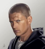 Wentworth Miller digital paint by Hispanart